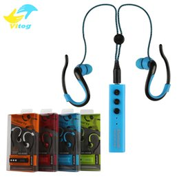Wholesale Beautiful Sports - Selling Hanging ear stereo Portable earphone Sport Bluetooth headset MS-808b hight quality Beautiful and durable for sony iphone samsung