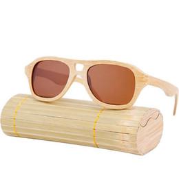 Gli occhiali da sole di moda polarizzati online-2017 Uomo donna Bamboo Occhiali da sole Moda PC Lens Occhiali da sole UV400 Protezione dalle radiazioni Con scatola Mens Vogue Nuovo arrivo Eyeglasse