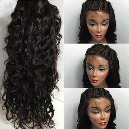 Wholesale Virgin Unprocessed Brazilian Wigs - Grade 8A Water Wave Full Lace Wigs   Lace Front Wigs Baby Hair 100% Brazilian Unprocessed Virgin Human Hair Wig For Black Women