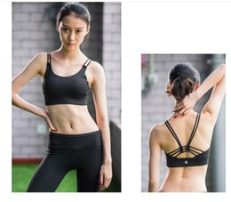 Wholesale Seamless Spaghetti Straps Tops - Women Fitness Yoga Sports Bra For Running Gym Adjustable Spaghetti Straps Padded Top Seamless Top Athletic Vest S M L