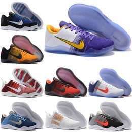 Wholesale Bruce High Quality - High Quality Kobe 11 Elite Men Basketball Shoes White Multicolor Red Horse USA Bruce Lee Eulogy KB 11 Trainer Sneakers size eur 41-46
