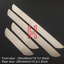 Wholesale Door Sill Scuff Guards - for honda civic 2017 2016 Accessories Door Sill Scuff Plate Guard Stainless steel Door Sills Protector Sticker Car Styling