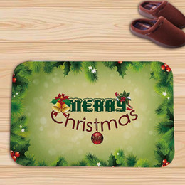 Wholesale 3d Floor Mats - new Christmas series Floor 3D Sticker Door mat home decor Flannel Waterproof Anti-skid Living Room Carpet 2017 Fashion DIY Home Decoration