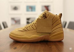 Wholesale Training Bowl - Men public school heats up the summer air retro PSNY wheat 12 Shoes Top quality Airs 12s Sports Training Mens Shoes Sneakers online