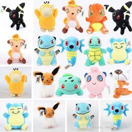 Wholesale Pokemon Big Doll - Poke Plush Dolls Toys 20-22cm Pocket Monster Gengar Lapras Charmander Bulbasaur Jeni Turtle Plush Dolls Cartoon Plush Toys PPA639