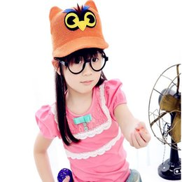Wholesale Duck Grass - The spring and autumn period and the new children's hat Private children caps owl duck tongue baby caps