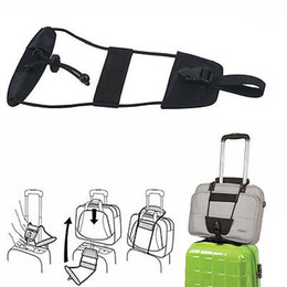 Wholesale Carry Golf Bags - Add A Bag Strap Travel Luggage Suitcase Adjustable Belt Carry On Bungee Strap UU Free Shipping