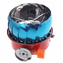 Wholesale one piece combination - Portable Lotus Mini Camping Outdoor Picnic Gas Stove Cooking Windproof New