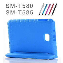 """Wholesale Kid Cover For Galaxy - for Samsung Tab A a6 10.1"""" SM-T580 T585 Kids case EVA Foam shockproof cover for Samsung Galaxy Tab A 2017 T585N fashion case Retail"""
