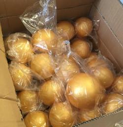 artigianato a polistirolo Sconti Shiping libero all'ingrosso 15 cm oro naturale polistirolo palline rotonde palla artigianale schiuma palla fai da te dipinta a mano palla (8 pz / lotto)