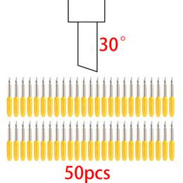 Wholesale Vinyl Cutter Blades - 50pcs 30 45 60 Degree Roland Blades for Cutter Plotter Cutting Vinyl Cricut Offset