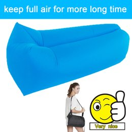 Wholesale Wholesale Ripstop Nylon - Wholesale- Outdoor inflatable sofa for the camping nyoln ripstop air sofa Beach Easy to carry lazy couch inflatable camping sofa