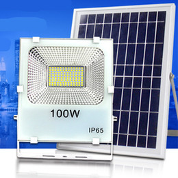 Wholesale Remote Solar Panel - Outdoor Solar LED Flood Lights 100W 50W 30W 70-85LM Lamps Waterproof IP65 Lighting Floodlight Battery Panel Power Remote Contorller China DH