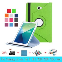 Wholesale Dot Cover Screen Protector - 360 rotating cover case for Samsung Galaxy Tab A 10.1'' P580 P583 P585 S-pen case screen protector film+stylus