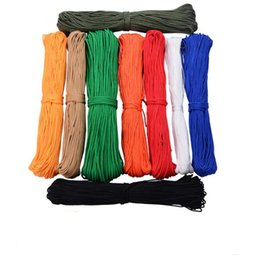Wholesale Rope Clothesline - 30 Meters diameter 4mm one stand Cores Paracord for Cord Lanyard Camping outdoor Climbing Camping Rope Hiking Clothesline