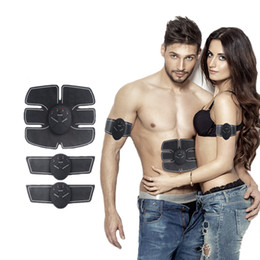 Wholesale Body Slim Machine - Wireless Muscle Stimulator EMS Stimulation Body Slimming Beauty Machine Abdominal Muscle Exerciser Training Device Body Massager