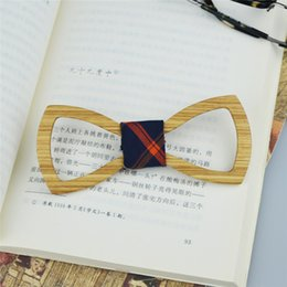Wholesale Pattern Bow Ties For Men - Handmade Hollow Butterfly Bowtie Zebra Wood pattern bowtie for appointment delicacy Special Hollow Bowknot neck tie