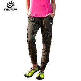 Wholesale Fly Sportswear - Wholesale-TECTOP Spring&Summer Outdoor Sportswear Hiking Pants Women Waterproof Quick-drying Breathable Female Climbing Trousers Casual