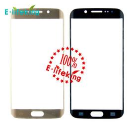 Oro del bordo della galassia s6 online-100% originale nuovo genuino schermo anteriore vetro esterno lente per Samsung Galaxy S6 bordo nero / bianco / oro
