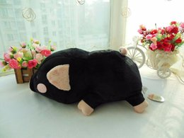 Wholesale Stuffed Black Pig - 2017NEW30cm pig plush toy pillow, black pig stuffed cushion, best baby toys for children, car decoration