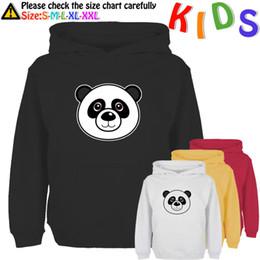 Wholesale Kids Panda Hoodie - Wholesale- Cartoon Banksy Foolishly Panda black eyes Design Kids Sweatshirt Girls Boys Gift Hoodie Tops