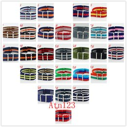 Wholesale 22mm Nylon - Debert 22mm Army Watchband Fiber Woven Nylon Watch Bands With Buckle Watch Straps For Men Nylon Watchbands Mens Bands Replacement