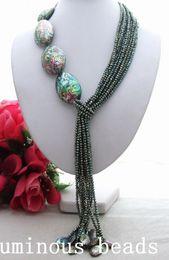 "Wholesale Red Hematite - KE072301 Natural 22"" Paua Abalone Shell Crystal Necklace KE090901 44"" Pearl Turquoise Necklace GE021306 42"" Round Hematite Necklace CZ"