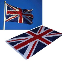 Wholesale Union Game - 87*148cm Great British United Kingdom National Hanging Flag - Home Decor Union Jack UK Flag for The World Cup   Olympic Game   Activity