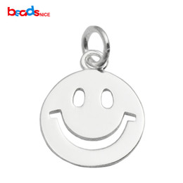 Wholesale Buy Pendants - Beadsnice 925 silver pendant smile pendant mini smile charm buy for friends as gifts DIY finding happy face charm ID 35629