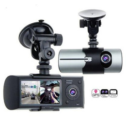 Wholesale Hand Digital - Dual Lens Car DVR X3000 R300 Dash Camera with GPS G-Sensor Camcorder 140 Degree Wide Angle 2.7inch Cam Video Digital Recorder