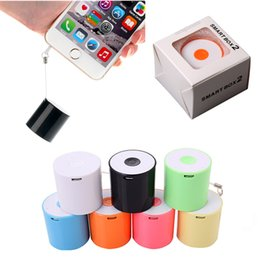 Wholesale Small Music Speakers Usb - Smallest Bluetooth Speaker Smart Sound Box Music Player Speaker with Anti-Lost Camera Remote Shutter Function for iphone samsung
