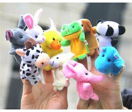Wholesale Multicolor Bedding - Velvet Plush Finger Puppets Animal puppets Toys finger puppet Kids Baby Cute Play Storytime Bed time for kids