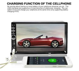 "Wholesale Mp5 Video Player Tv - Universal 7"" 2 Din Car DVD Audio Stereo Player Touch Screen Car Video MP5 Player TF USB FM Radio Support Bluetooth Hands-free Call"