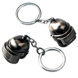 game keys wholesale Coupons - Hot Sale Game Jewelry PUBG Helmet Keychain Alloy Car Key Rings & keychain Holder Keyring For Gift