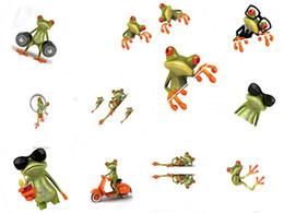 Autoadesivi murali camion auto online-20PCS 3D Frog Personalità dei cartoni animati adesivi per auto Camion finestra anteriore parabrezza porta a muro divertente vinile adesivo adesivi accessori auto