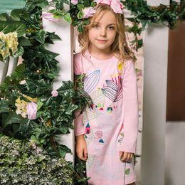 Kidsalon Girls Clothes Kids Vestido de Natal 2017 Autumn Girls Princesa Vestido de manga comprida de manga Imprimir vestido de menina vestido de fantasia