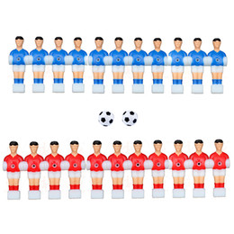Wholesale Toy Football Tables - 22Pcs Players + 2Balls Table Football Players Foosball Table Games Toys Soccer Table Plastic Kickers 12.7Mm