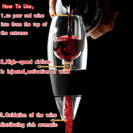 Wholesale Low Price Wine Aerator - Lowest Price 24sets New Magic Decanter Essential RED Wine Aerator and Sediment Filter with Gift Box