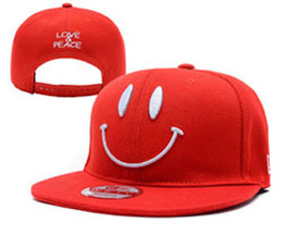 Wholesale Smiling Ball - Men's 2017 New Hats Smile Fresh Stitched Fashion Caps Adjustable Hats Drop shipping