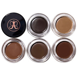 Wholesale Eyebrow Cream - 2017 New Eyebrow Pomade Eyebrow Enhancers Makeup Eyebrow 8 Colors With Retail Package Free DHL