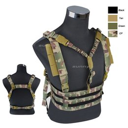 Wholesale tactical molle sling - Outdoor Sports Outdoor Camouflage Body Armor Combat Assault Tactical Molle Vest Plate Carrier One Point Sling Vest NO06-022