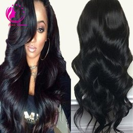 Wholesale Hair Wig Bangs - Unprocessed Virgin Brazilian Body Wave Human Hair U Part Wigs Remy Hair Upart Wig with Side Bangs Side Middle U Shaped Wig For Black Women