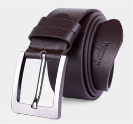 Wholesale Fancy Metal - Genuine Leather Belts for Men Brand Strap Male Pin Buckle Fancy Vintage Cowboy Jeans