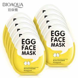 2019 acne remover creme Atacado-BIOAQUA Egg Máscaras Faciais Oil Control Ilumine Máscara Envolvida Mista Hidratante Máscara Facial Cuidados Com A Pele máscara hidratante