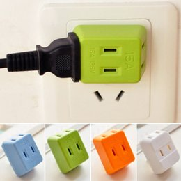 Wholesale Electrical Wall Sockets - Portable Electrical Outlet Wall Plug Travel Power Strip Triple Tap 3 in 1 Splitter 15A 1500W 125V International Power Socket adapter