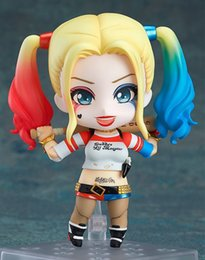 Wholesale Q Models - Popotoyfirm Nendoroid Anime Q version Harley Quinn 672# 10cm PVC Action Figure Toy Doll Model for Suicide Squad kids gift