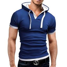 polos con capucha Rebajas Marca 2019ss Polo para hombre de manga corta poloshirt sólido Hombres Polo Homme Slim Ropa para hombre Camisas con capucha Camisa Polo XXXL