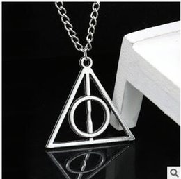 Wholesale Deathly Hallows Pendant Necklace - XL1045 Fashion Harry Potter Luna Deathly Hallows geometric triangle pendant necklace