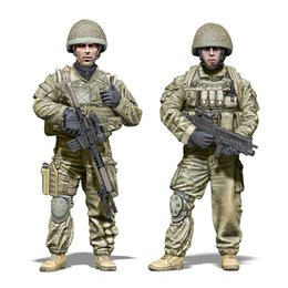 Wholesale Air Force Toys - Wholesale- New Unassembled 1 35 Second Gulf War   British Special Forces SAS Air Service Regiment Resin Kit DIY Toys Unpainted kits
