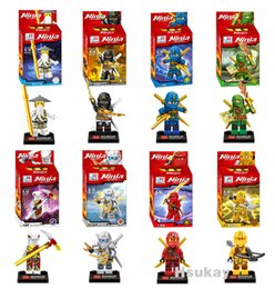 Wholesale Ninja Plastic Building Blocks Toys - Kaygoo 2017 New 8Pc Ninja Kai Jay Zane Cole Lloyd Ninjag With Weapon Building Block Figures Toys figures